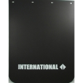 "International Semi-Truck Logo 24"" x  30"" Black Polyurethane Mud Flaps-Pair"