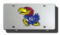 Kansas Jayhawks Laser Cut License Plate