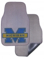 "Michigan Wolverines 2pc ""Blue M"" Grey Universal Car Floor Mats"