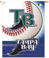 "Tampa Bay Rays MLB 27"" x 37"" Vertical Outdoor Flag"