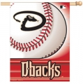 "Arizona Diamondbacks MLB 27"" x 37"" Vertical Outdoor Flag Pole Flag"