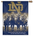 "Notre Dame Fighting Irish 27"" x 37"" Vertical Outdoor Four Horsemen Flag"