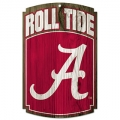 "Alabama Crimson Tide 11"" x 17"" Wooden Sign"