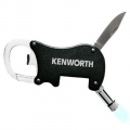 Kenworth Black Carabiner Multi-Tool with LED Flashlight