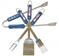 Atlanta Braves Stainless Steel BBQ Utensil Set