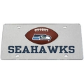 Seattle Seahawks Football Silver Laser Cut License Plate