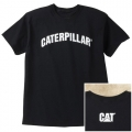 Caterpillar CAT Distressed Black Medium T-Shirt