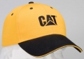 Caterpillar CAT Gold and Black Sandwich Cap
