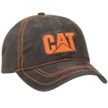 CAT Caterpillar Charcoal Gray Textured Cap