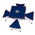 New England Patriots NFL Integrated Tailgating Table with Stools-CLOSEOUT