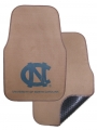 North Carolina Tar Heels 2pc Beige Universal Car Floor Mats