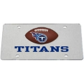 Tennessee Titans Football Silver Laser Cut License Plate