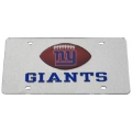 New York Giants Football Silver Laser Cut/Mirrored License Plate