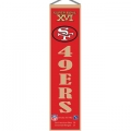 "San Francisco 49ers NFL Wool 8"" x 32"" Heritage Banners"