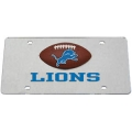 Detroit Lions Football Silver Laser Cut License Plate