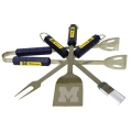 Michigan Wolverines Stainless Steel BBQ Utensil Set