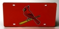 St. Louis Cardinals Mirrored/Laser Cut Red License Plate