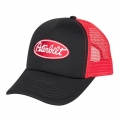 Peterbilt Motors Black & Red Foam Mesh Trucker Snapback Cap