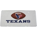 Houston Texans Football Silver Laser Cut License Plate