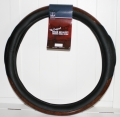 "Rig Matters 20"" Black Woodgrain Style Semi Truck Steering Wheel Cover"