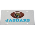 Jacksonville Jaguars Football Silver Laser Cut License Plate