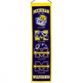 "Michigan Wolverines NCAA Wool 8"" x 32"" Heritage Banners"