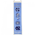 "North Carolina Tar Heels NCAA Wool 8"" x 32"" Heritage Banners"