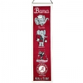 "Alabama Crimson Tide NCAA Wool 8"" x 32"" Heritage Banners"