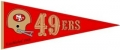 San Francisco 49ers NFL Throwback Wool Pennant