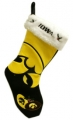 "Iowa Hawkeyes 17"" Color Block Christmas Stocking"