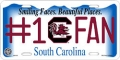 South Carolina Gamecocks #1 Fan Aluminum License Plate