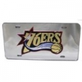 Philadelphia 76ers Laser Cut Silver License Plate