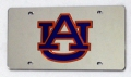 Auburn Tigers Silver Laser Cut License Plate