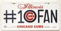 Chicago Cubs #1 Fan Aluminum License Plate
