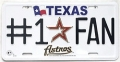 Houston Astros #1 Fan Aluminum License Plate