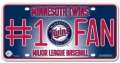 Minnesota Twins #1 Fan Aluminum License Plate