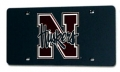 Nebraska Cornhuskers Laser Cut/Mirrored Black License Plate