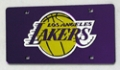 Los Angeles Lakers Laser Cut Purple License Plate