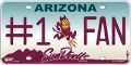Arizona State Sun Devils #1 Fan Aluminum License Plate