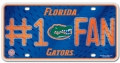 Florida Gators #1 Fan Aluminum License Plate