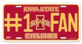 Iowa State Cyclones #1 Fan Aluminum License Plate