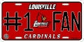 Louisville Cardinals #1 Fan Aluminum License Plate