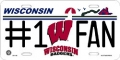 Wisconsin Badgers #1 Fan Aluminum License Plate