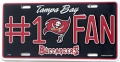 Tampa Bay Buccaneers #1 Fan Aluminum License Plate