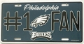 Philadelphia Eagles #1 Fan Aluminum License Plate