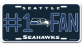 Seattle Seahawks #1 Fan Aluminum License Plate