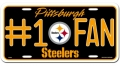 Pittsburgh Steelers #1 Fan Aluminum License Plate