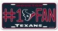 Houston Texans #1 Fan Aluminum License Plate