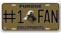Purdue Boilermakers #1 Fan Aluminum License Plate