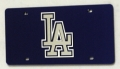 Los Angeles Dodgers Laser Cut Blue License Plate